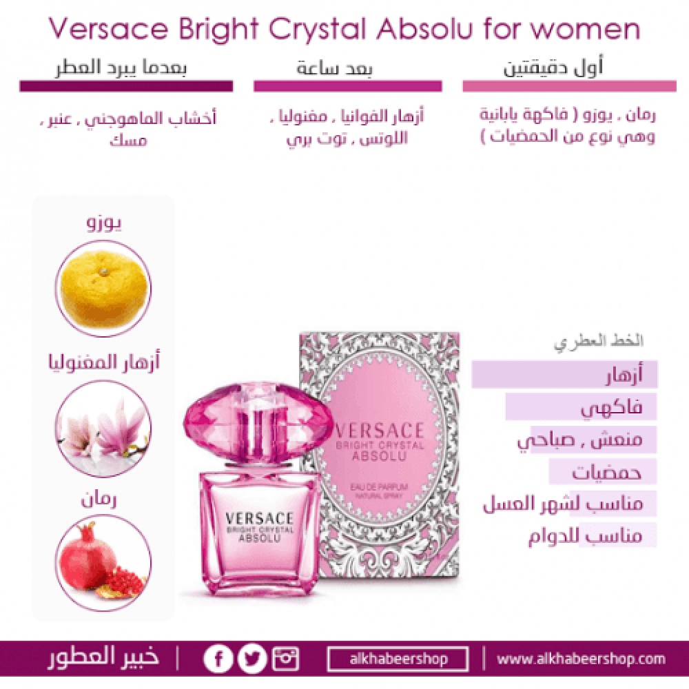 Versace Bright Crystal Absolu Eau de Parfum 50ml خبير العطور