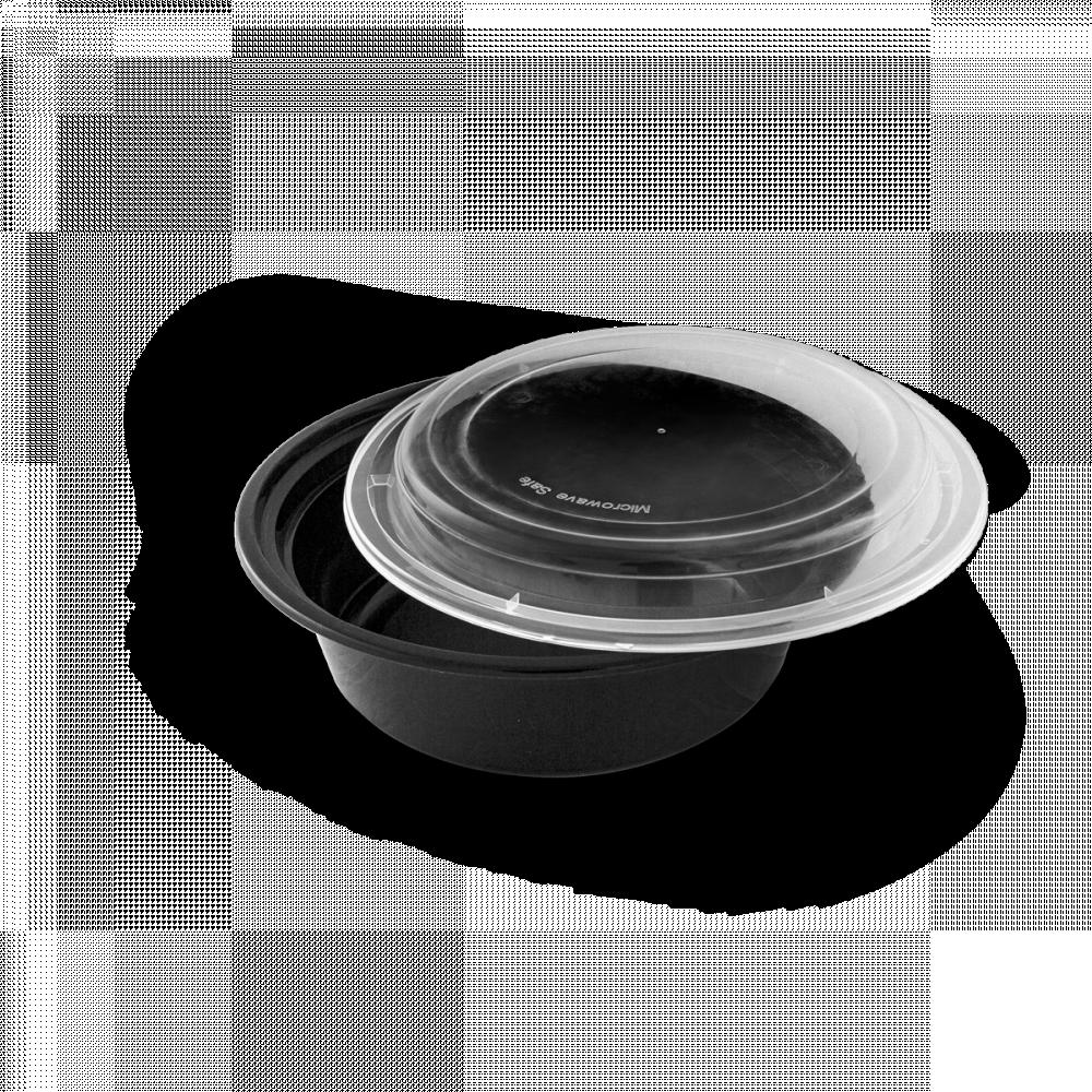 علب مايكرويف دائري مع غطاء 6 حبات
