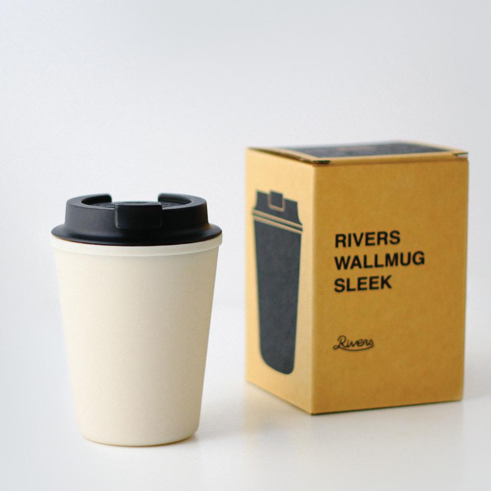 كوب RIVERS ذات جدار مزدوج لحفظ الحرارة يحتوي على غطاء غالق لفوهة الشرب