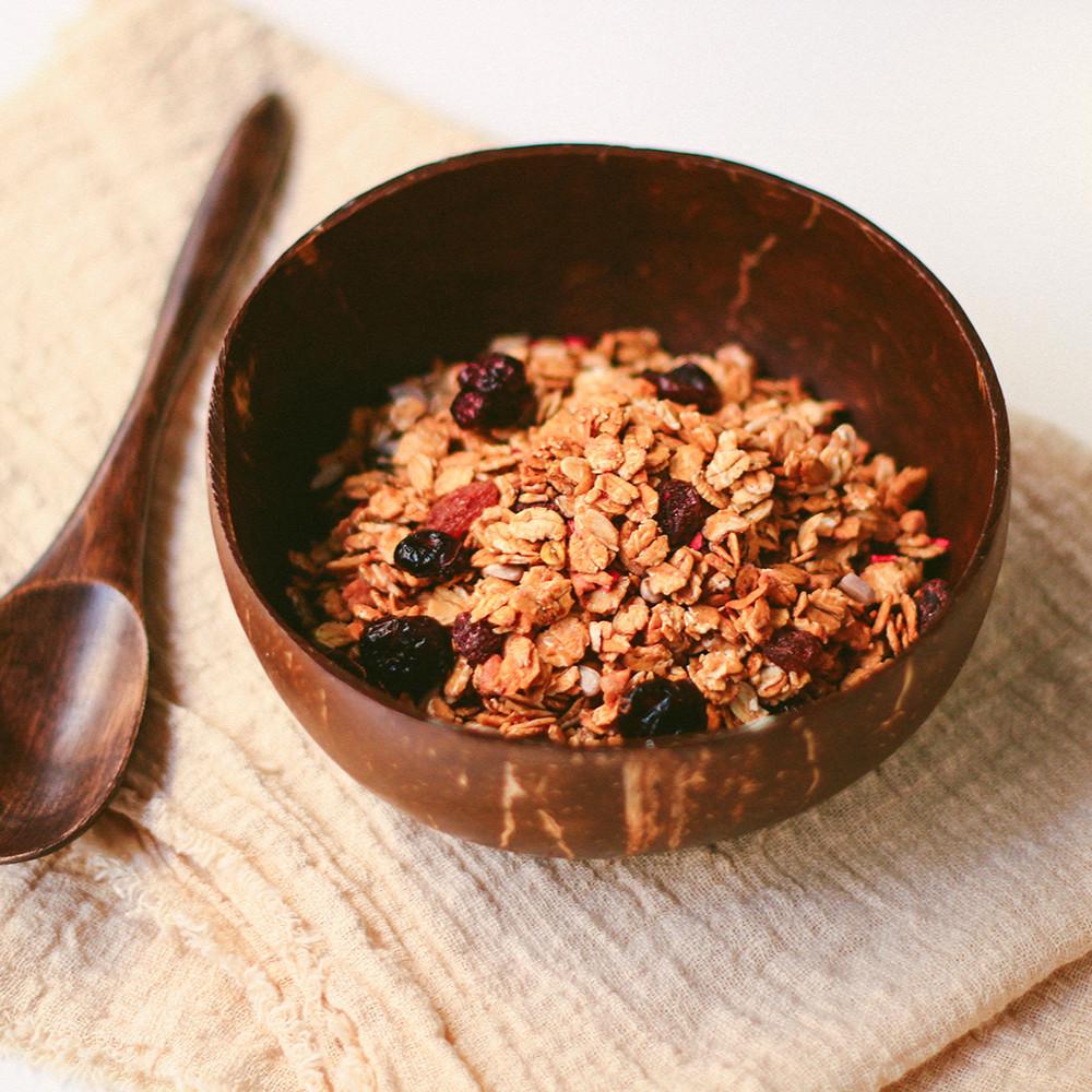 وعاء قشر جوز الهند الطبيعي وعاء سموذي وعاء سموثي زبدية فيقن فيجن نباتي