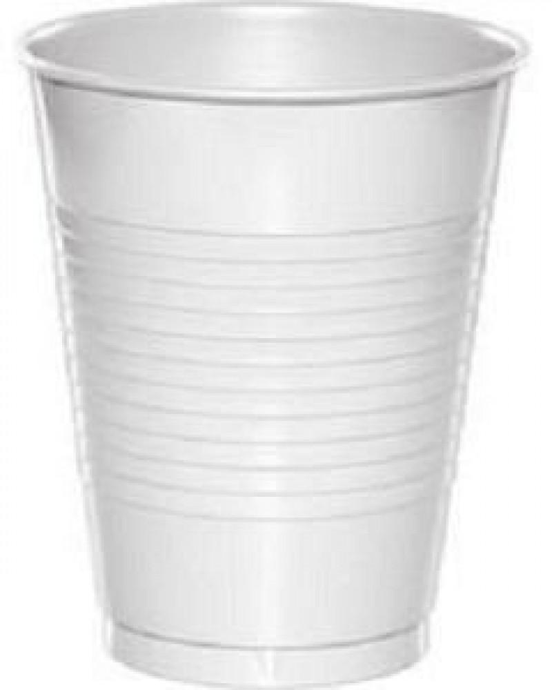 اكواب بلاستيك بيضاء 50 حبة