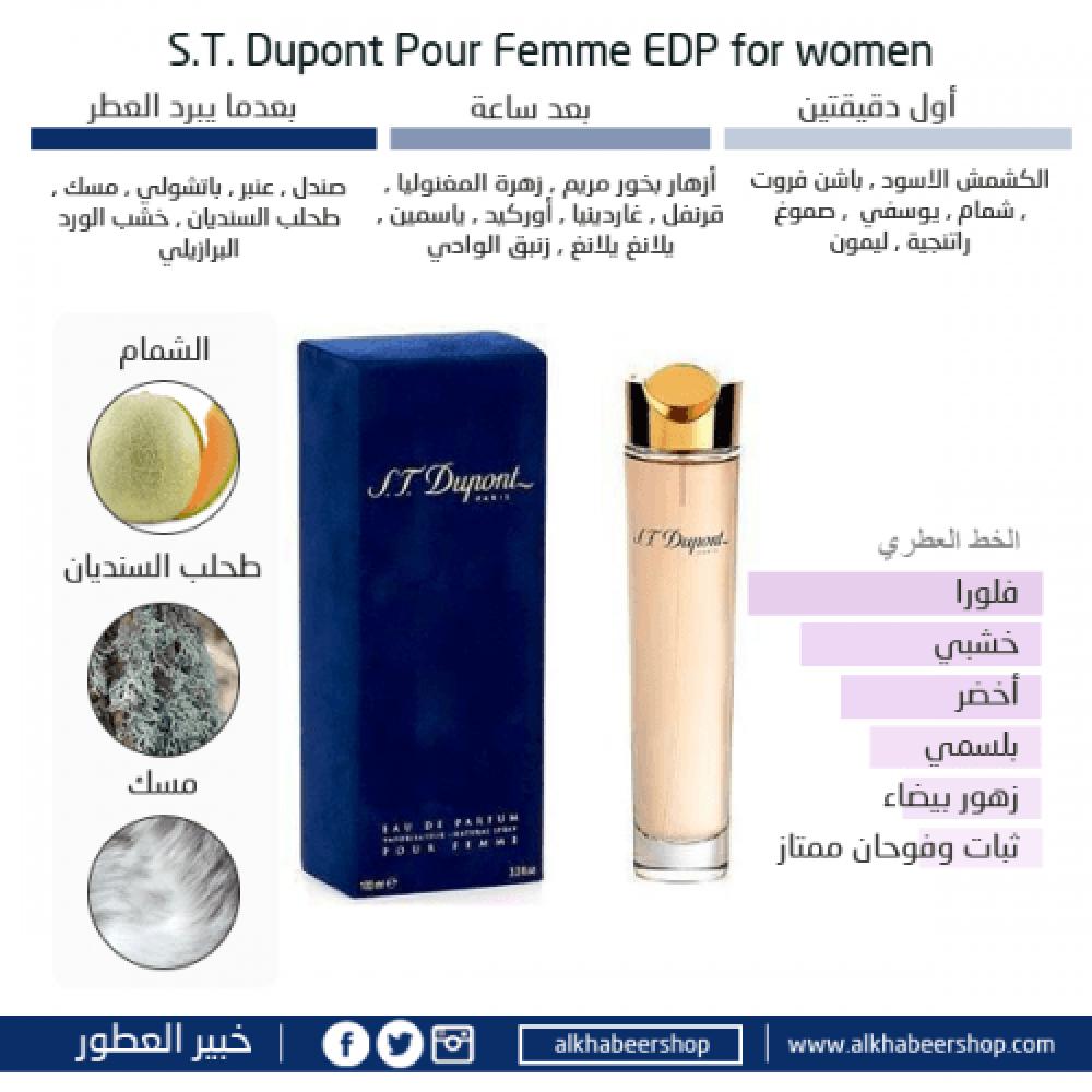 S T Dupont Pour Femme Eau de Parfum 100ml خبير العطور