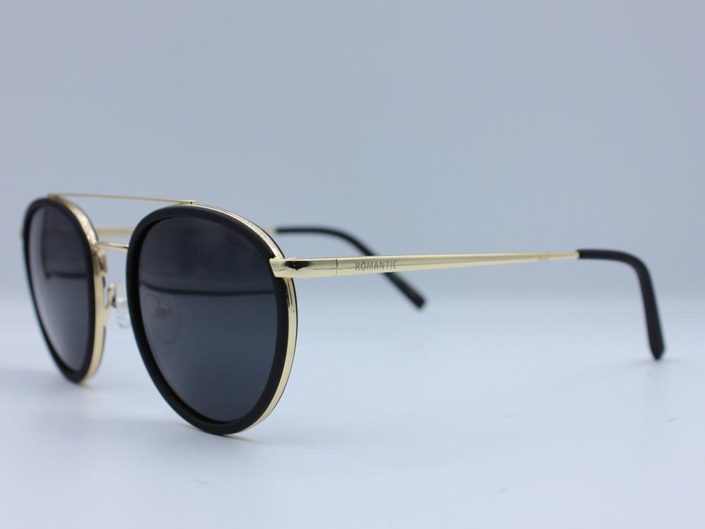 نظاره شمسية دائرية من ماركة ROMANTIC لون العدسة اسود للجنسين فاخرة2021