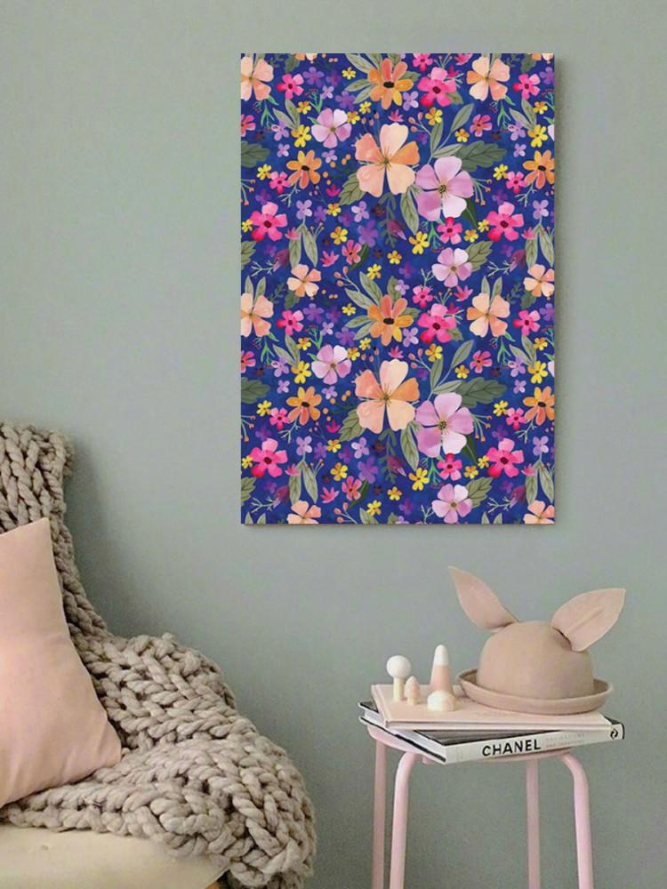 لوحة زهور خشب ام دي اف مقاس 40x60 سنتيمتر