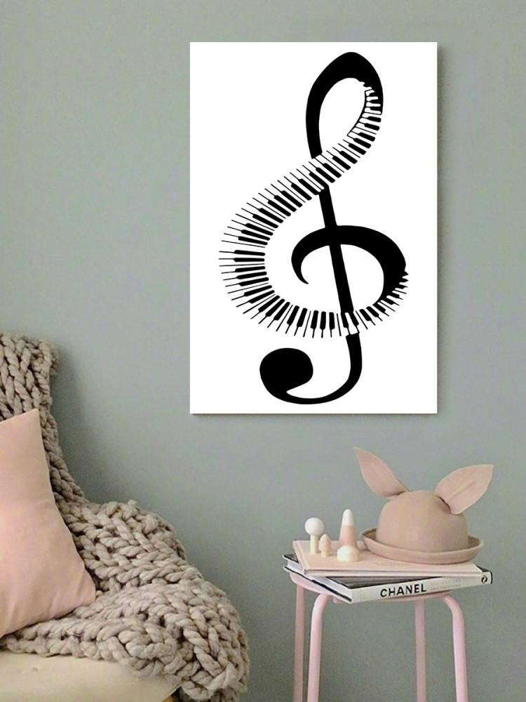 لوحة نوتة موسيقية خشب ام دي اف مقاس 40x60 سنتيمتر