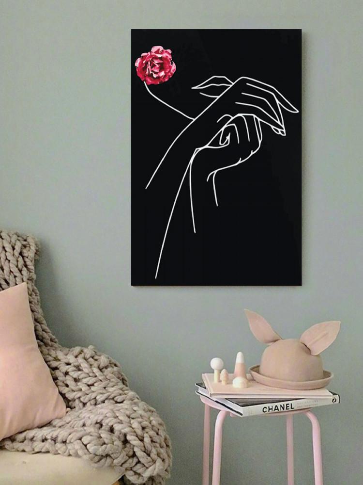 لوحة ايادي خشب ام دي اف مقاس 40x60 سنتيمتر