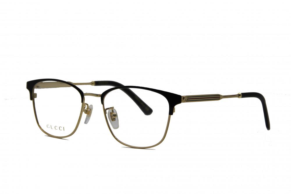 نظارة طبية من ماركة GUCCI بتصميم مربع لون الاطار  ذهبي