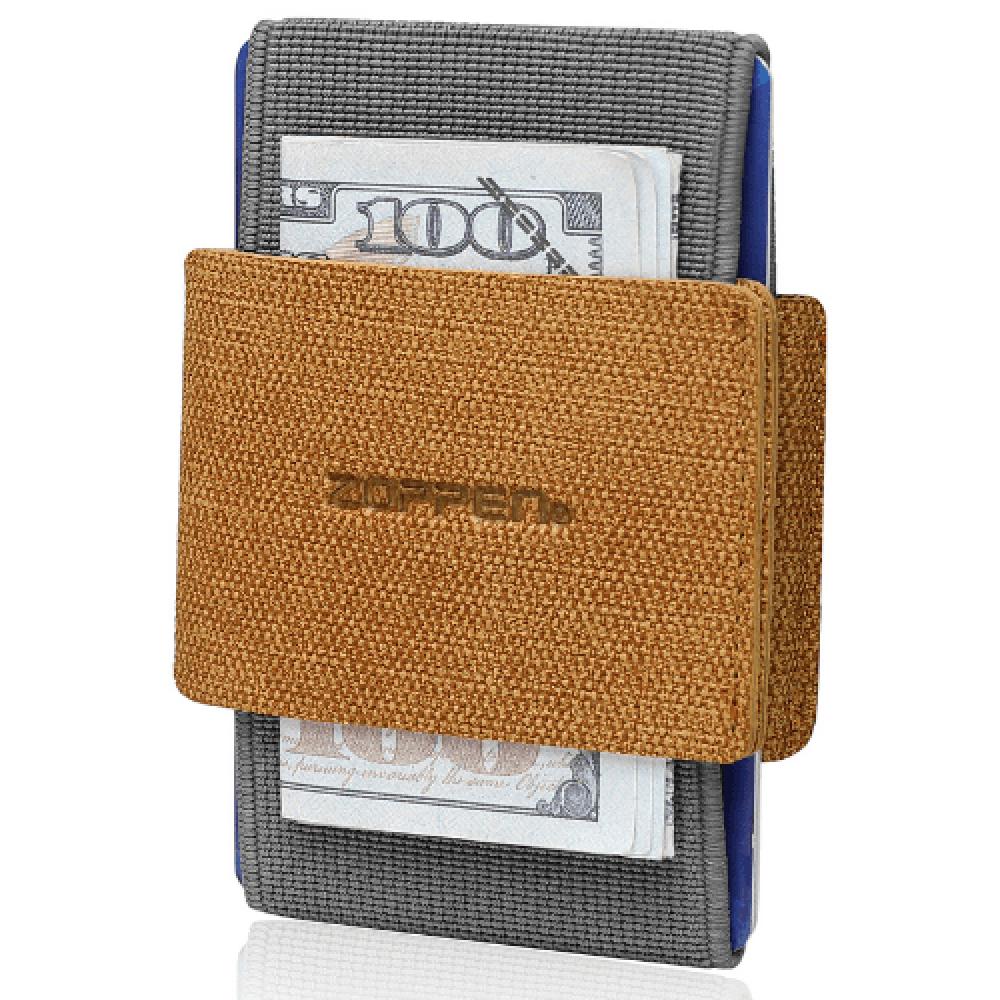 محفظة بطاقات Zoppen الرفيعة والمرنة - بني - متجر أصلي