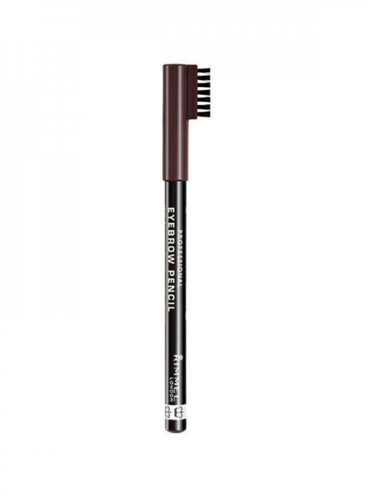 قلم تحديد الحواجب الاحترافي من ريميل لندن بني غامق 001