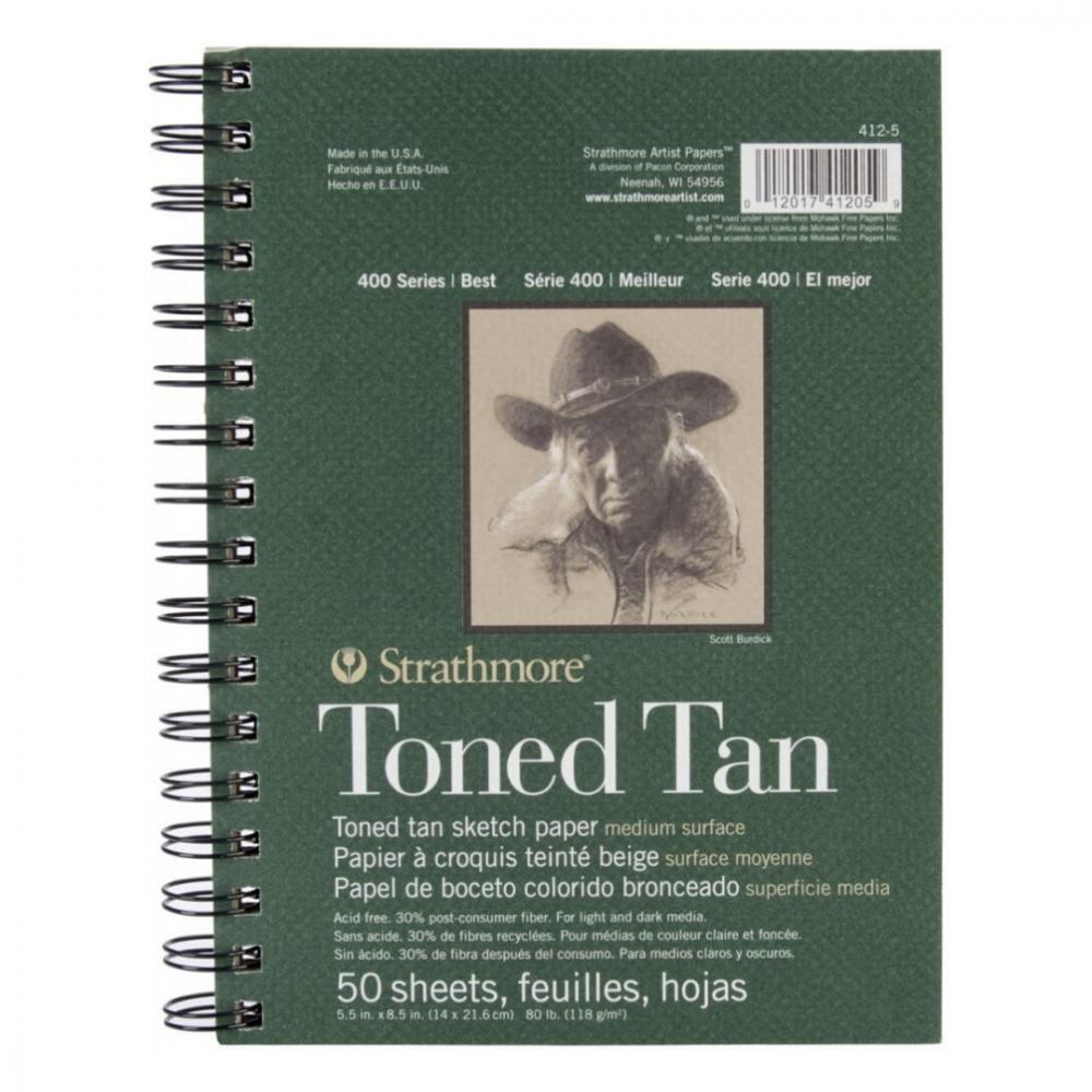 كراسة ستراثمور ورق بني Strathmore Pad Sketch Toned Tan