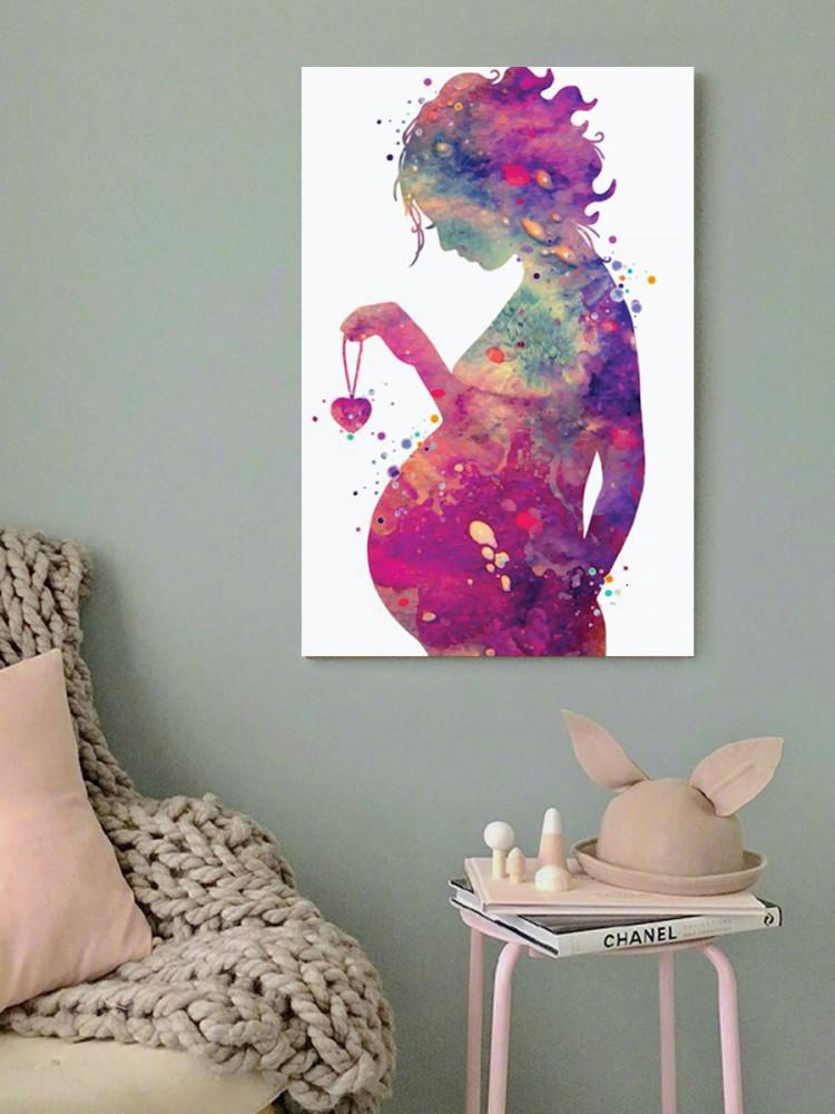 لوحة المرأة الحامل خشب ام دي اف مقاس 40x60 سنتيمتر