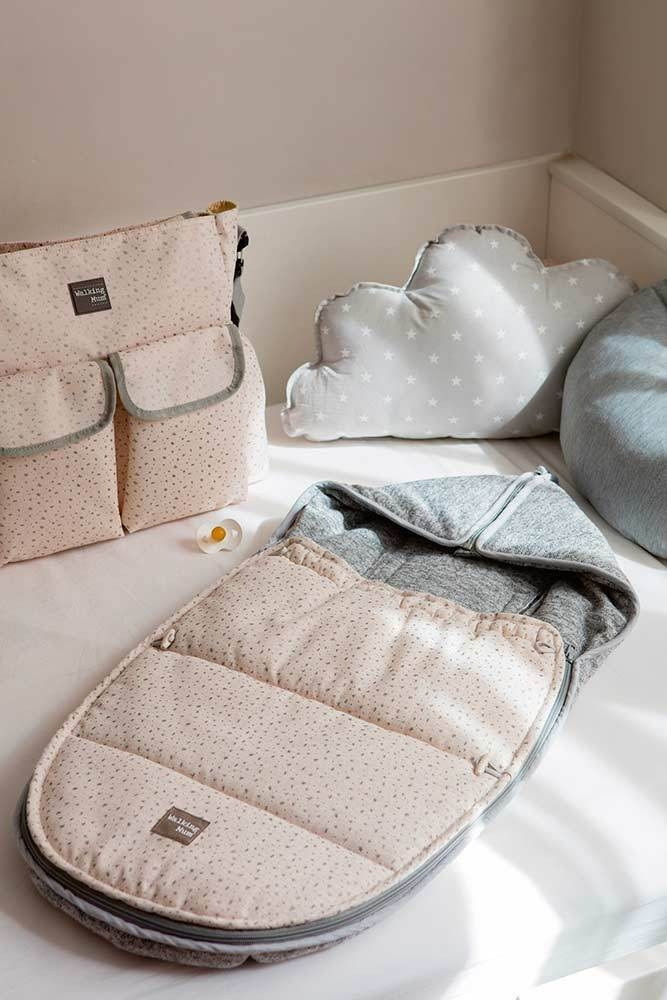 غطاء واقي من البرد لحديثي الولادة باللون البيج من ماركة  دوها