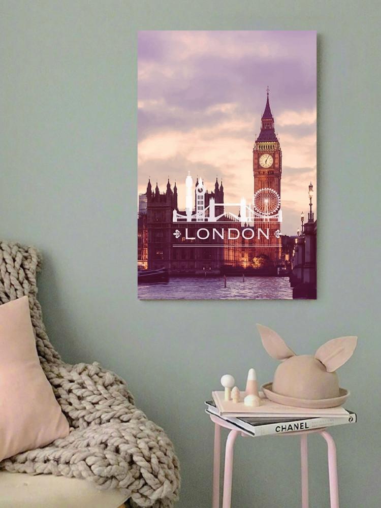 لوحة بيج بن لندن خشب ام دي اف مقاس 40x60 سنتيمتر