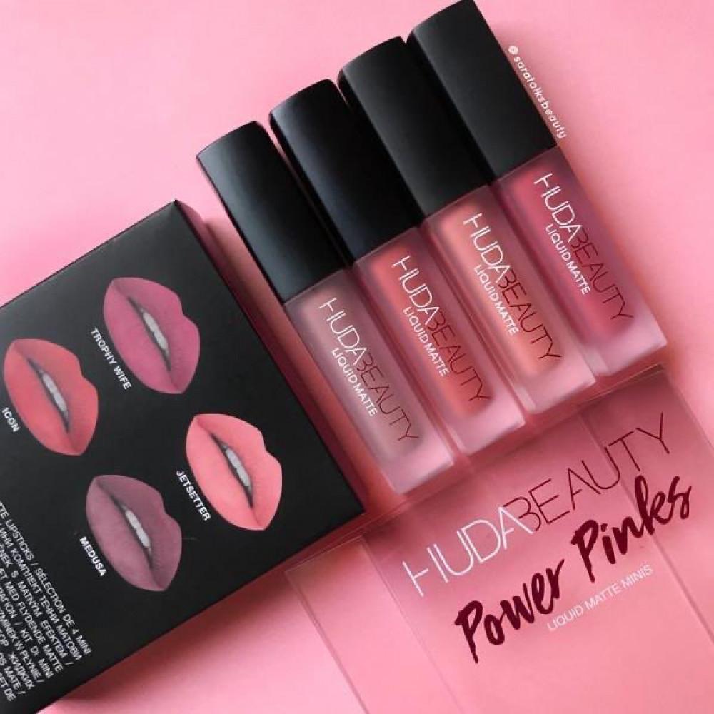 مجموعة أرواج هدى بيوتي بحجم ميني huda beauty power pinks