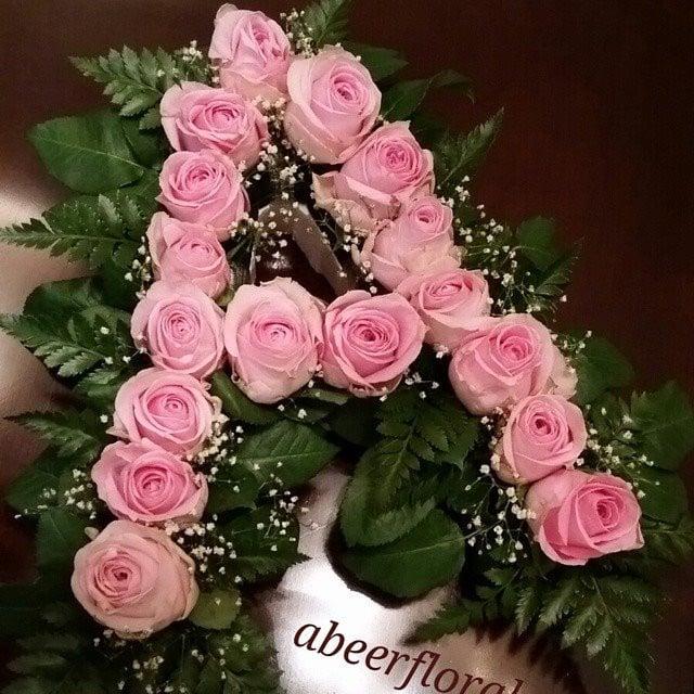 حرف بالورد الطبيعي Alaa Flower