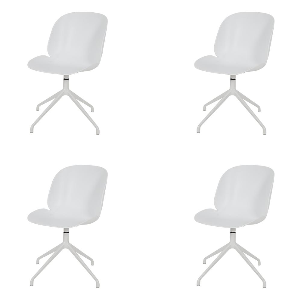 مواسم طقم كراسي نيت هوم 4 قطع مميزة عصرية مصممة باللون الأبيض الجذاب