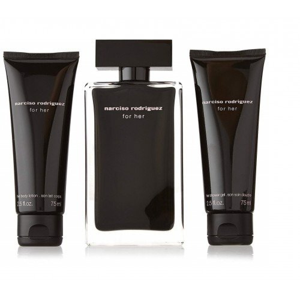 Narciso Rodriguez for Her  Eau de Toilette 100ml 3 Gift Set خبير العطو