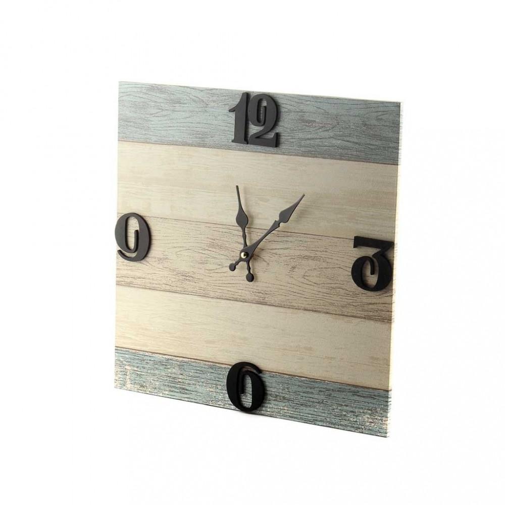 ساعة خشبية مربع SA- 01678