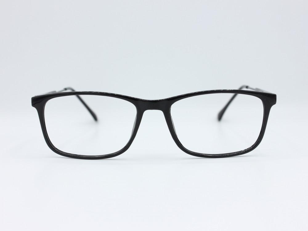 نظارة طبية من ماركة T مستطيلة مع عدسات بحماية لون الاطار اسود نسائية