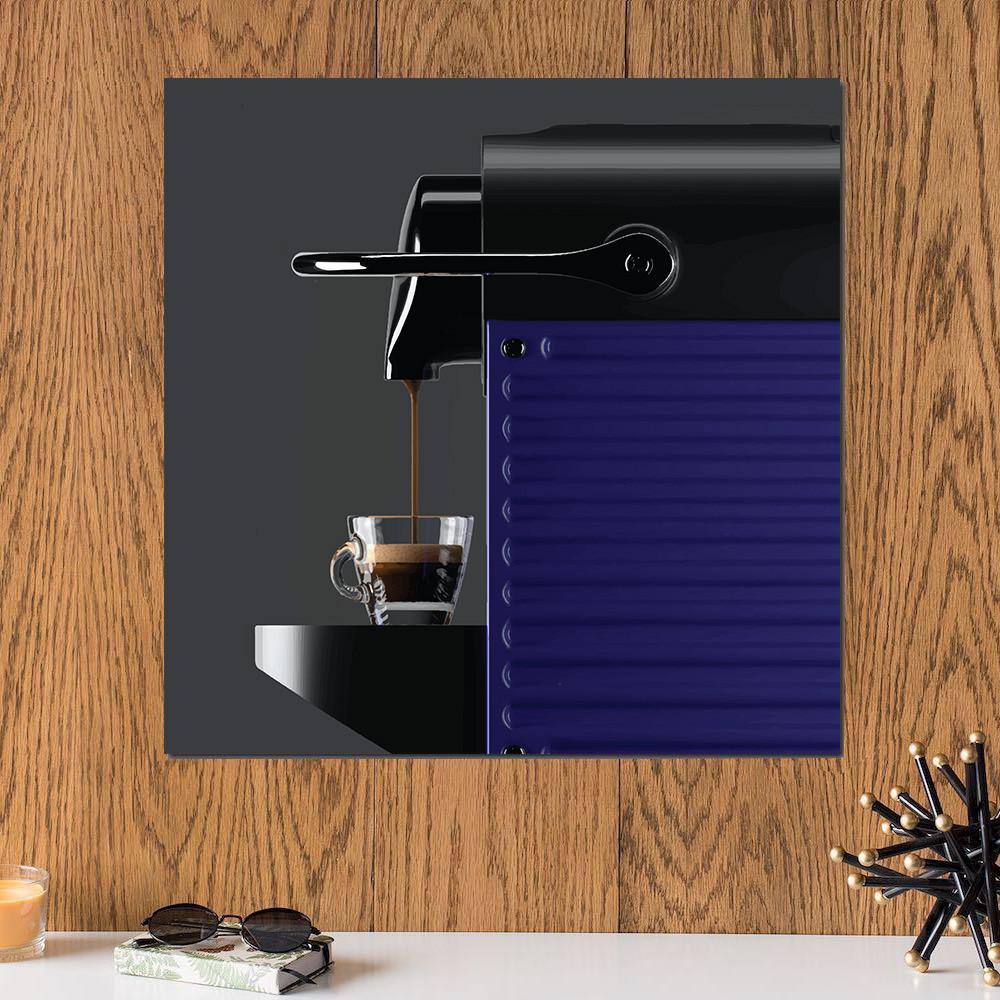 لوحة ماكينة القهوة خشب ام دي اف مقاس 30x30 سنتيمتر