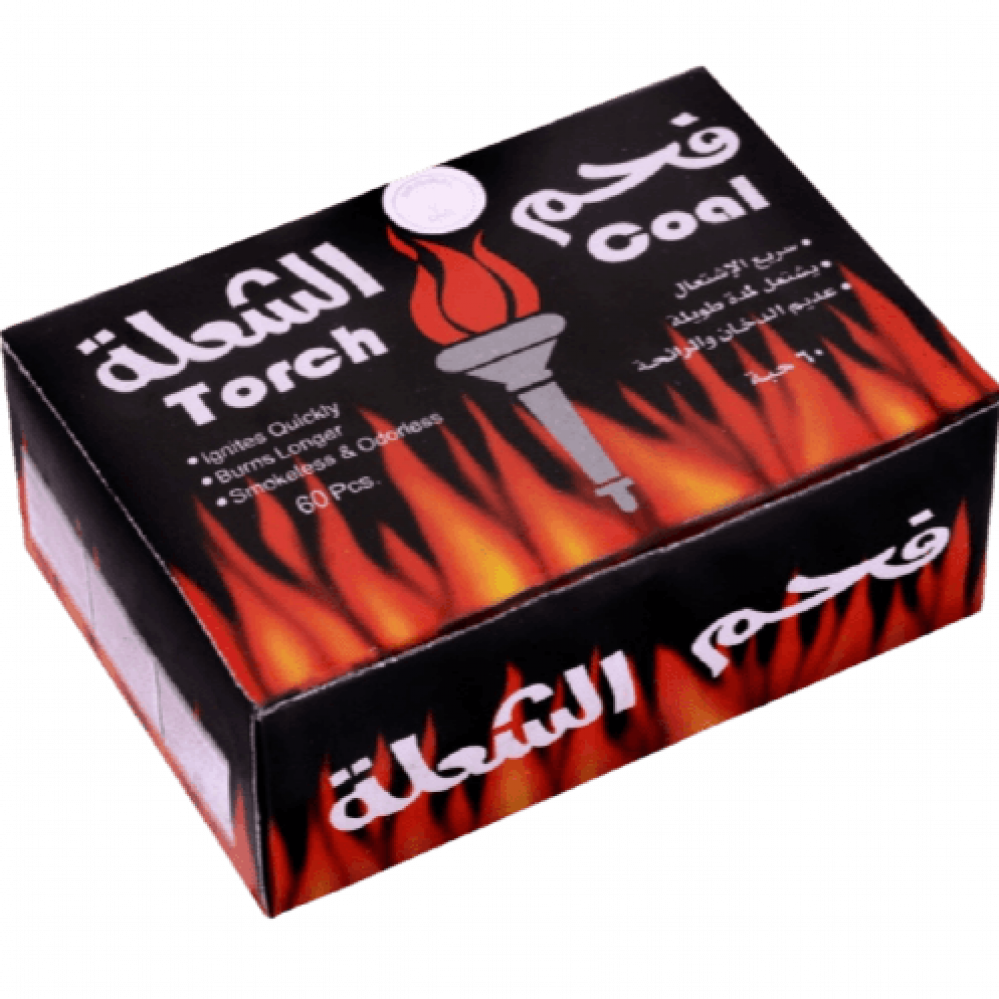 فحم الشعلة سريع الإشتعال عدد 60 قطعة
