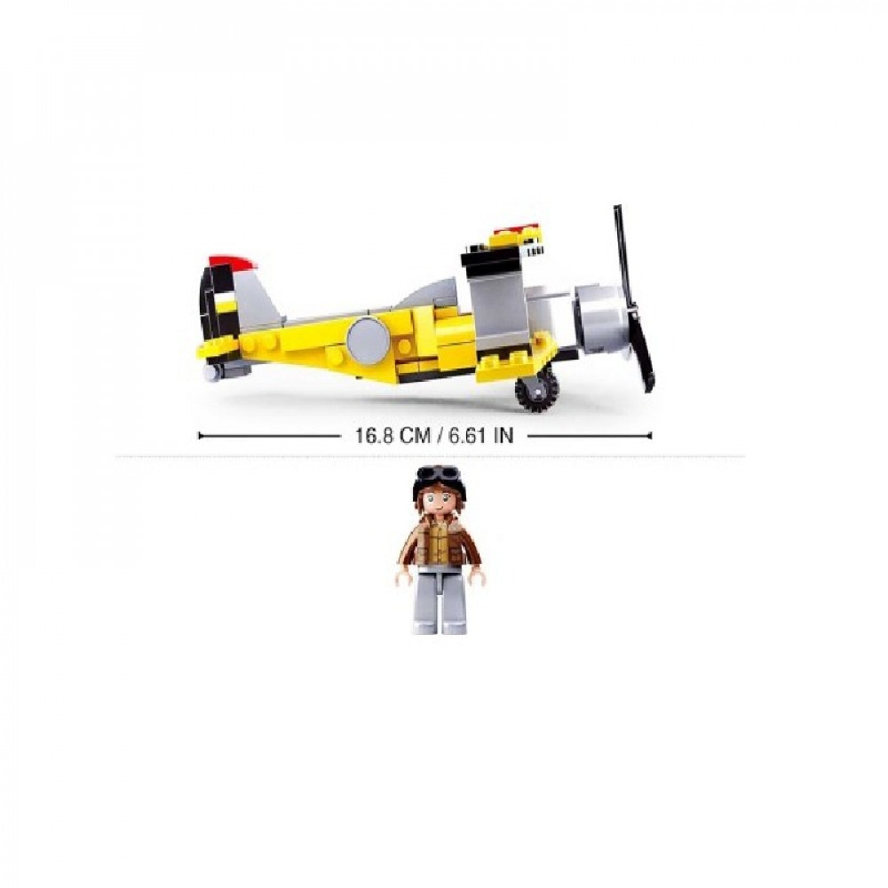 سلوبان, قطع تركيب بلاستيك, طائرة صفراء,  ألعاب, Sluban
