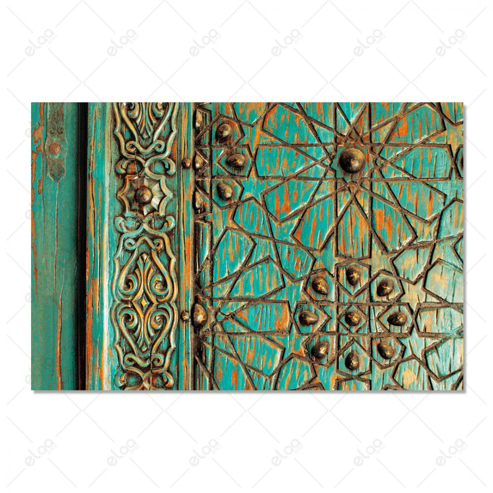 باب اسلامي قديم اخضر