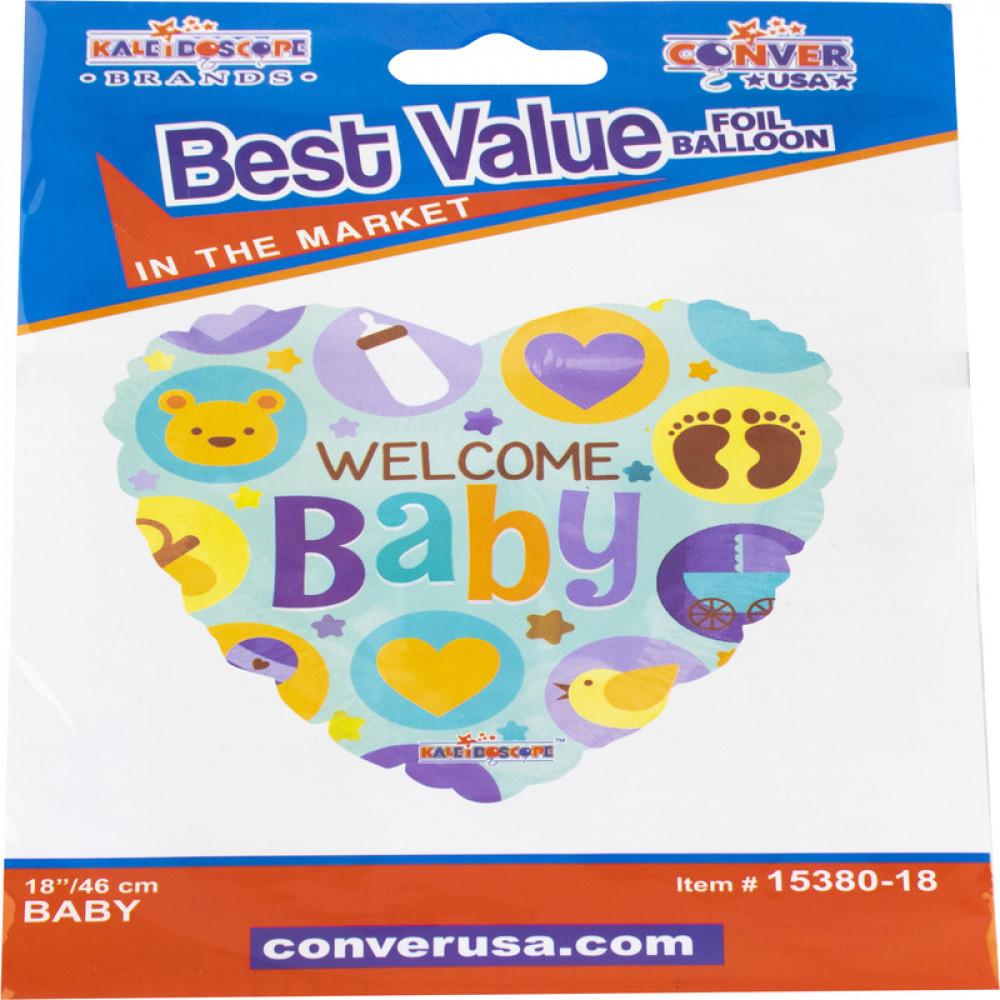 بالون بيبي, بلونات أشكال, Welcome Baby Balloon
