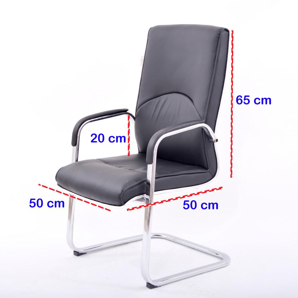 كرسي مكتبي جلد ثابت اسود YA-12BLACK