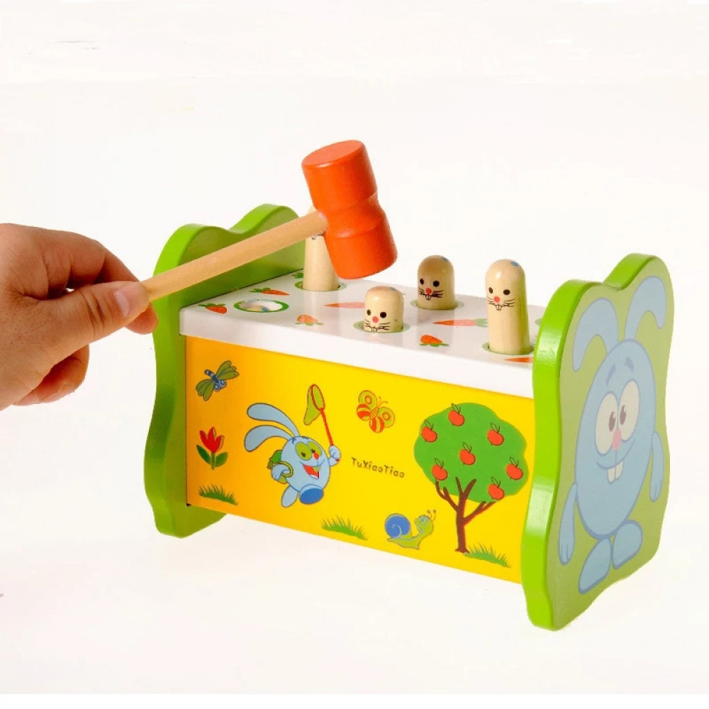 العاب اطفال العاب خشبية ادراكية تعليمية طرق مطرقه