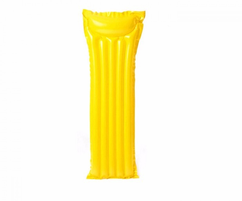 سرير سباحة قابل للنفخ عائم لون فلورسنت أصفر