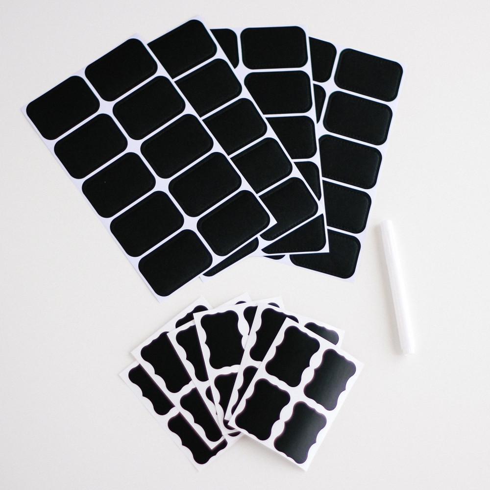 Chalk Sticker ستيكرات لتنظيم المطبخ طريقة تنظيم رفوف المطبخ