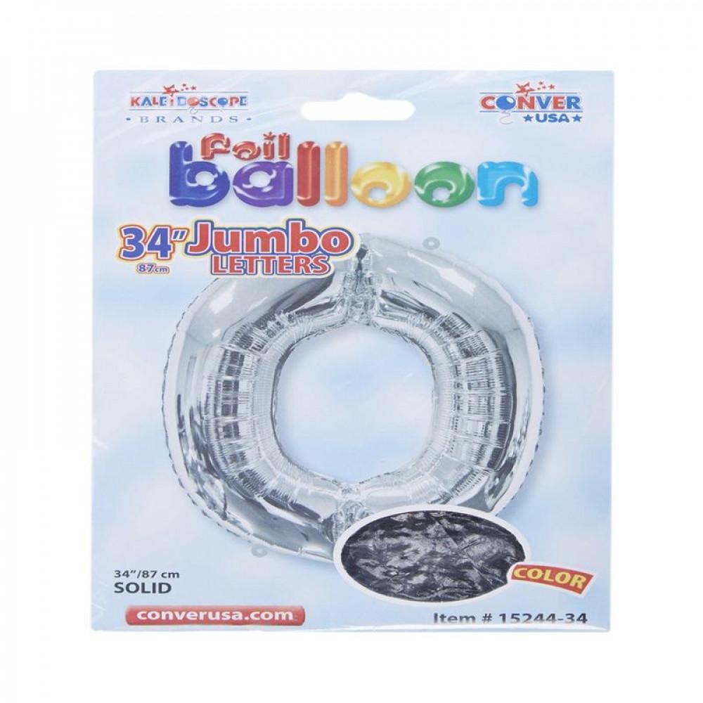 بالون فضي, بالون حرف O, بلونات أحرف, Silver Balloon