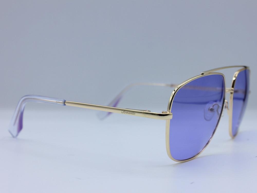 نظاره شمسية مربعه من ماركة ROMANTIC لون العدسة بنفسجي  نسائية فاخرة