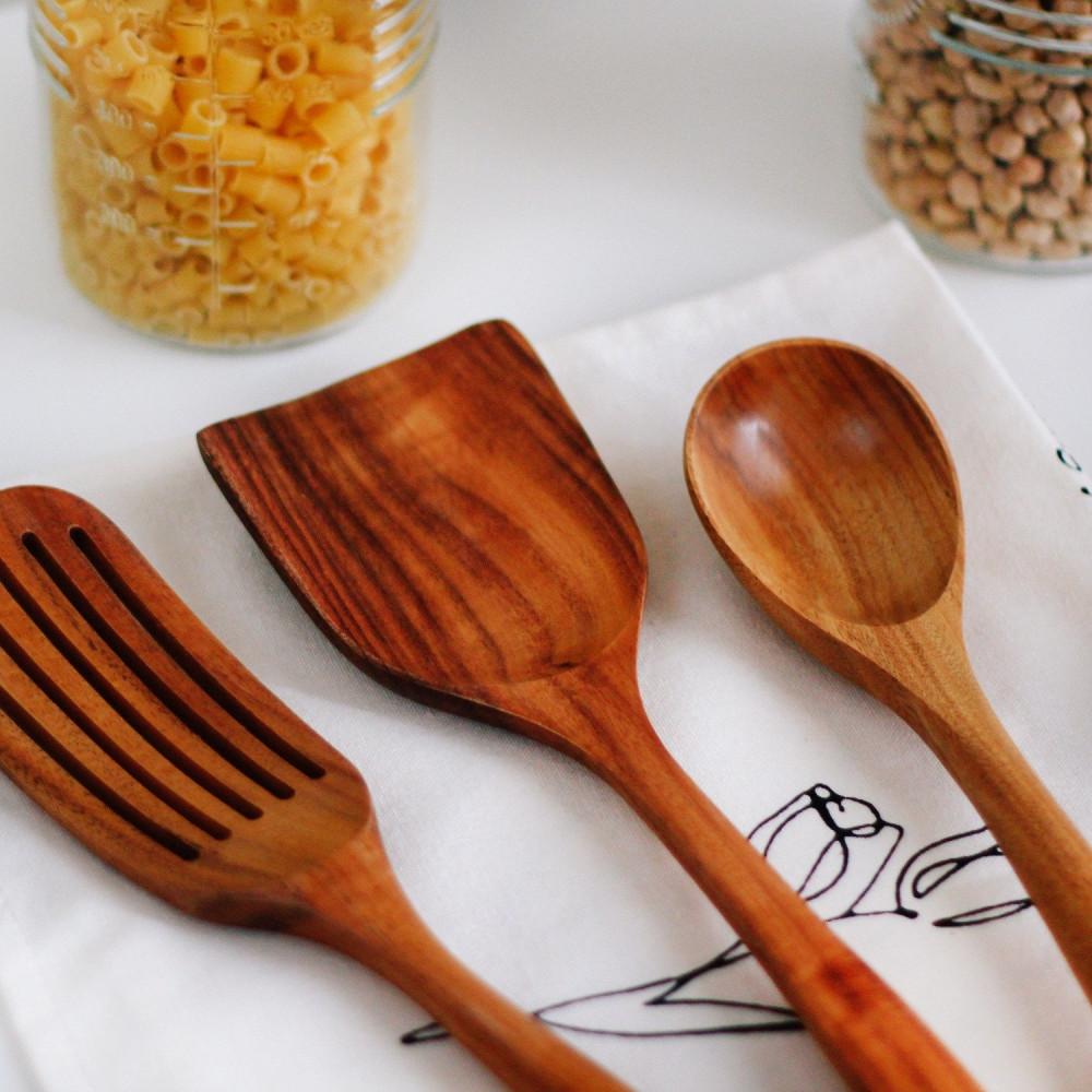 ملعقة عسل خشب أدوات مطبخ أواني خشبية متجر أواني منزلية خشب الأكاسيا