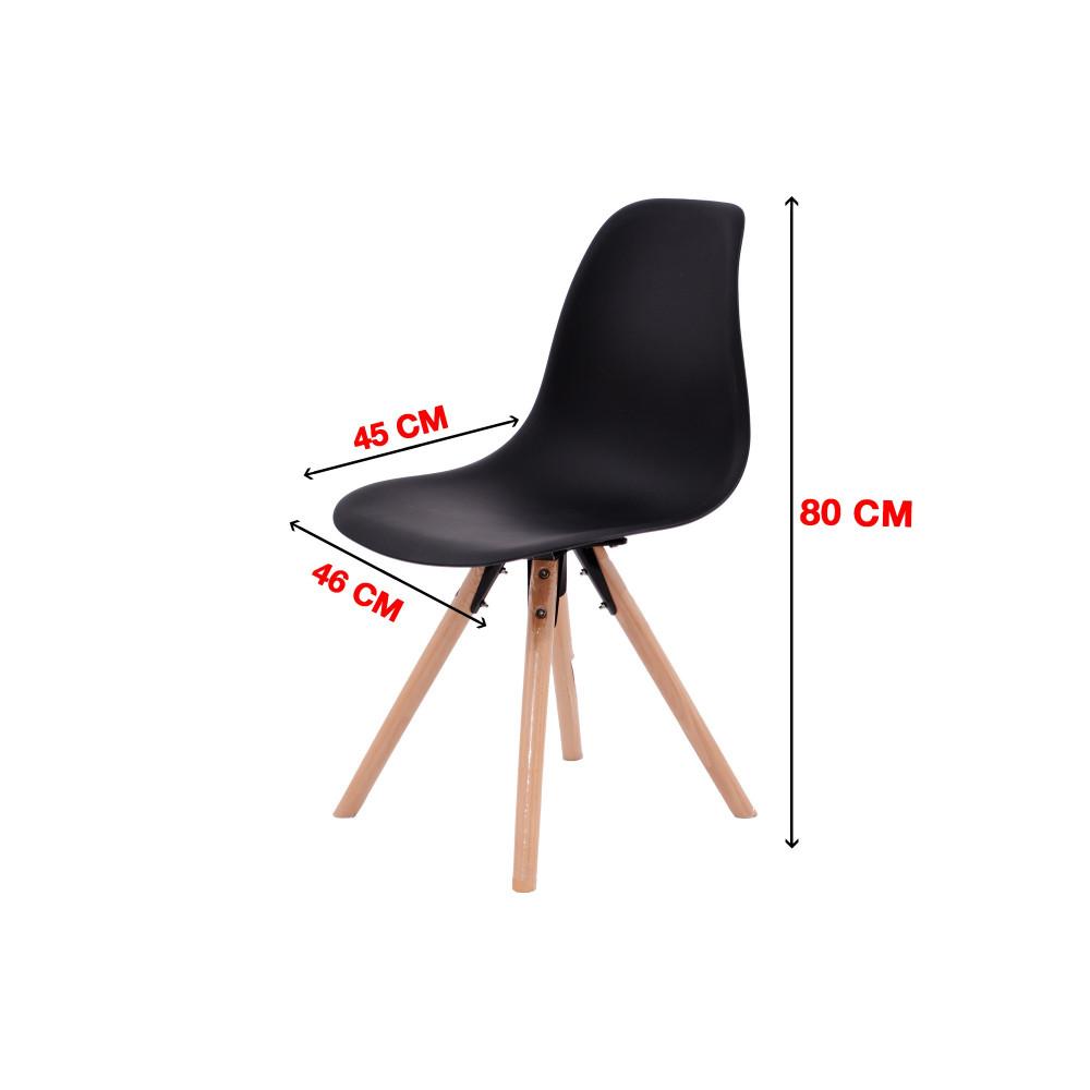 كرسي كاما فيبر اسود ارجل خشب C-D-811MF-BLACK