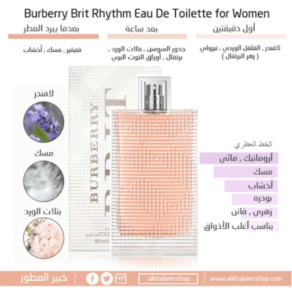 Burberry Brit Rhythm for Woman Eau de Toilette 90ml خبير العطور