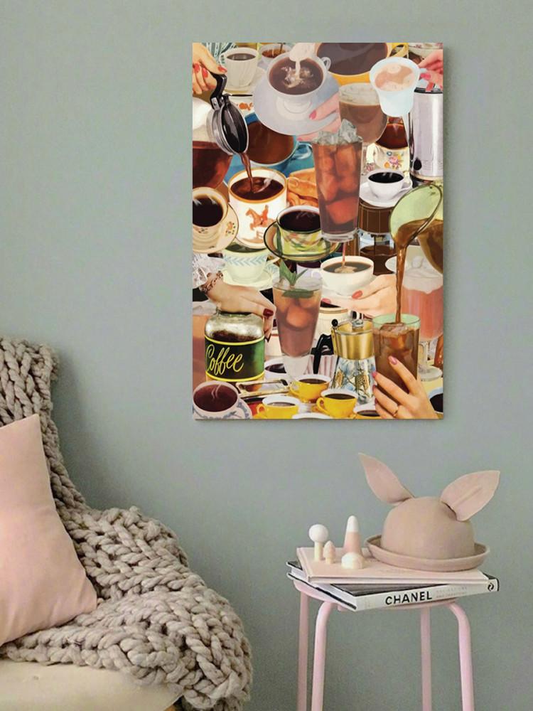 لوحة عشاق القهوة خشب ام دي اف مقاس 40x60 سنتيمتر