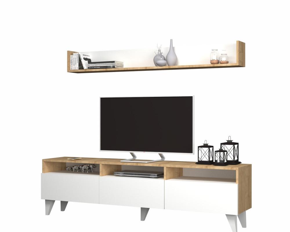 تجارة بلا حدود طاولة تلفاز خشبية جذابة بتصميم أنيق يتناسب مع الموضة