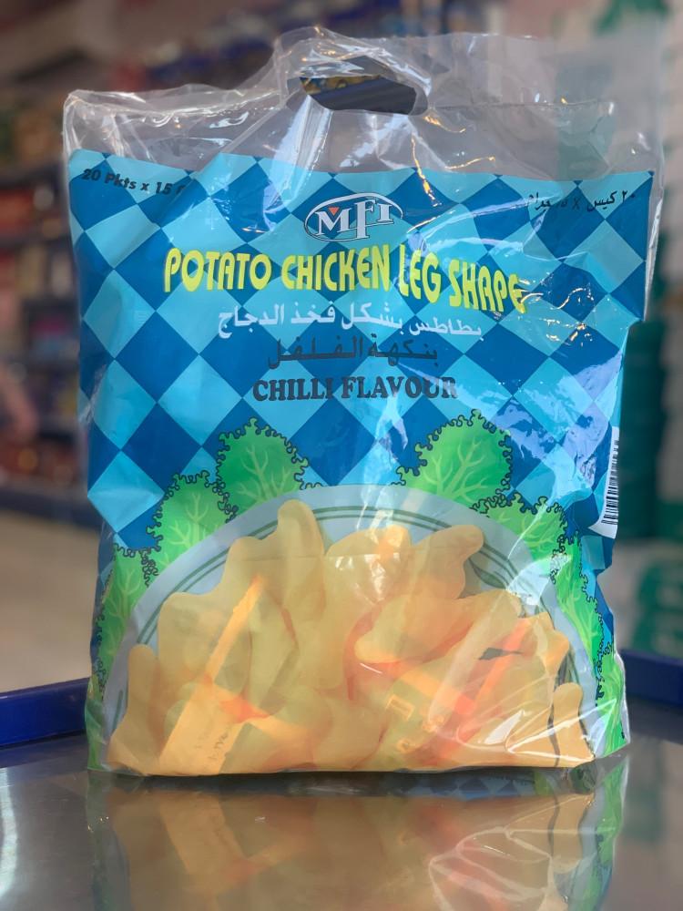 بطاطس بشكل فخذ الدجاج بنكهة الفلفل20x بسكوت وحلاوة