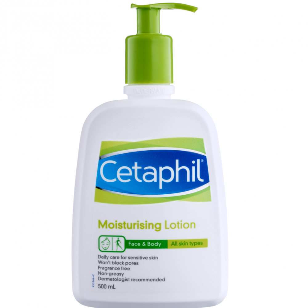 سيتافيل لوشن مرطب لجميع أنواع البشرة 500مل Cetaphil كيوفي لوشن للوجة