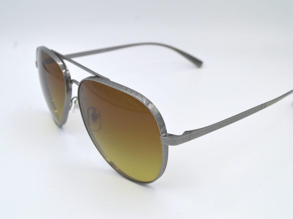 فرزاتشى VERSACE نظارة شمسية رجالية لون العدسة عسلي مدرج