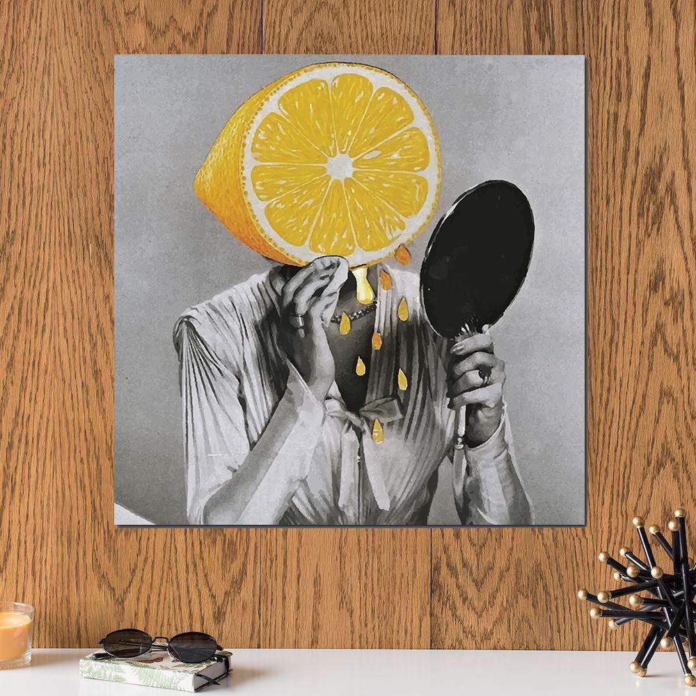 لوحة ليمون خشب ام دي اف مقاس 30x30 سنتيمتر