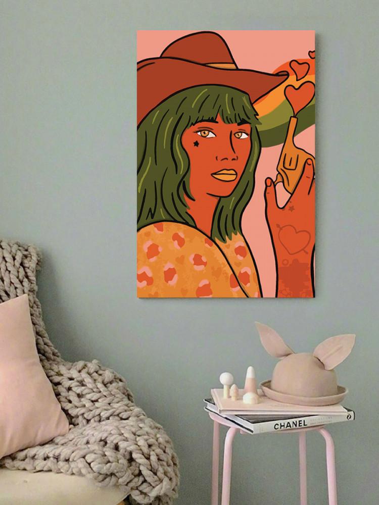 لوحة المرأة مودرن ارت خشب ام دي اف مقاس 40x60 سنتيمتر