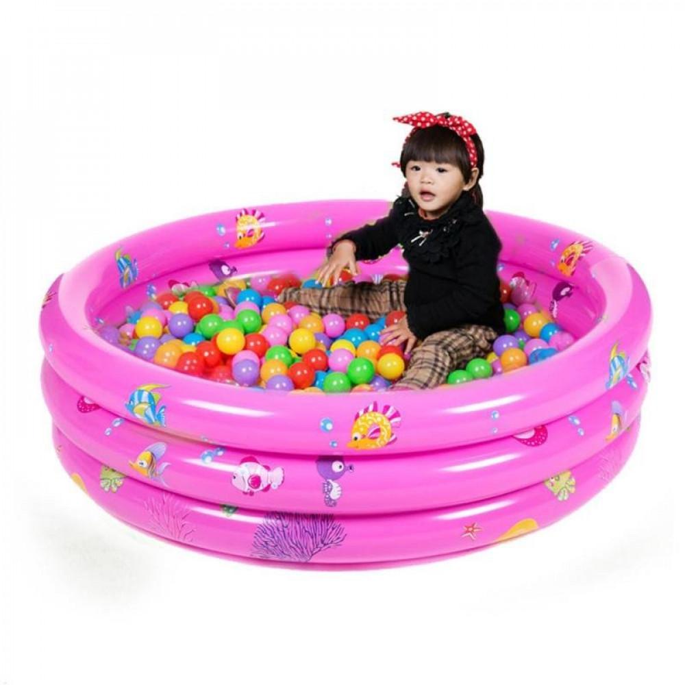 حوض سباحة واستحمام قابل للنفخ للأطفال للعب بالماء مقاس خارجي 73X38سم