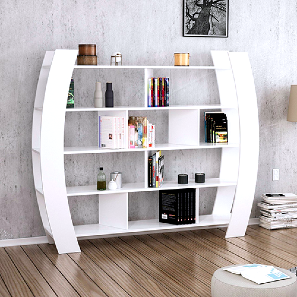 أفضل مكتبات الكتب خزانة خشب تركية متعددة للكتب موديل هيليك 2  الحديثة