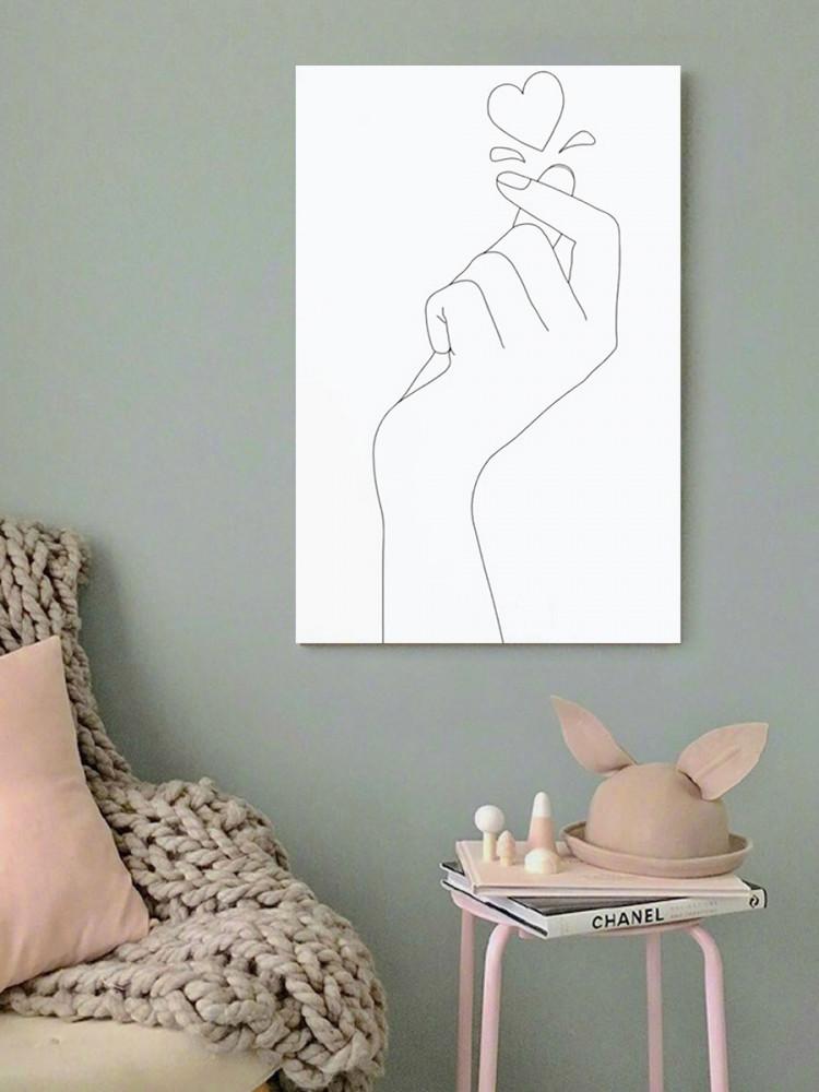 لوحة اليد قلب حب خشب ام دي اف مقاس 40x60 سنتيمتر