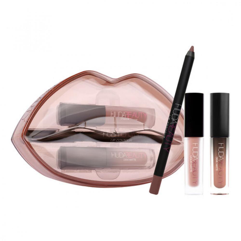 مجموعة هدى بيوتي huda beauty matte and cream lip set