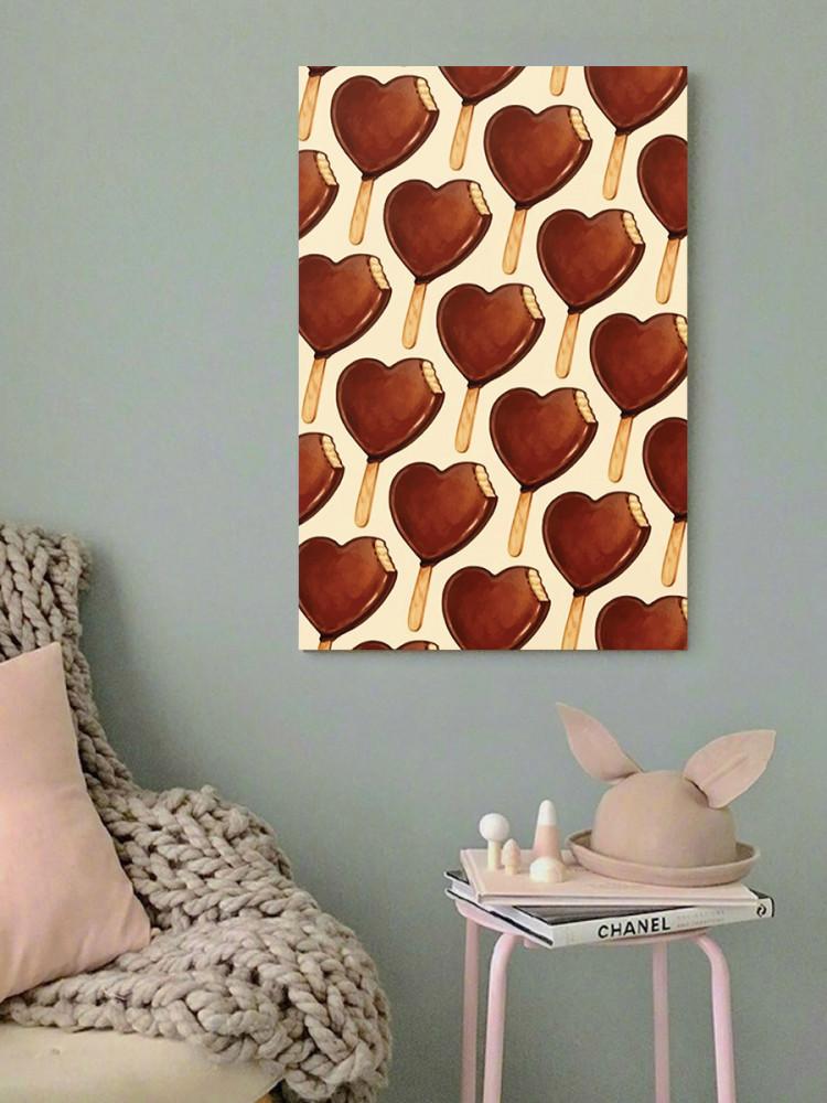 لوحة ايس كريم خشب ام دي اف مقاس 40x60 سنتيمتر