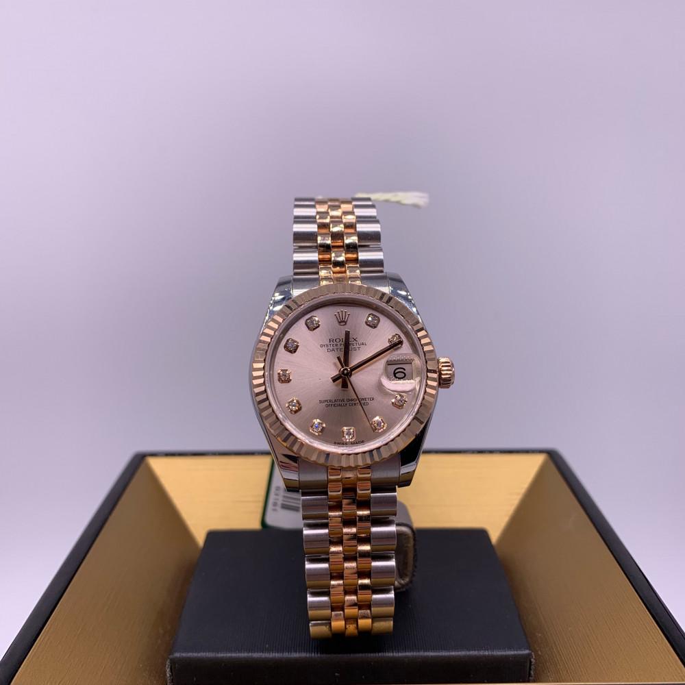 ساعة رولكس ديت جست روز قولد اصلية مستعملة